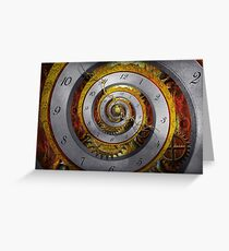Steampunk - Spiral - Infinite time Greeting Card