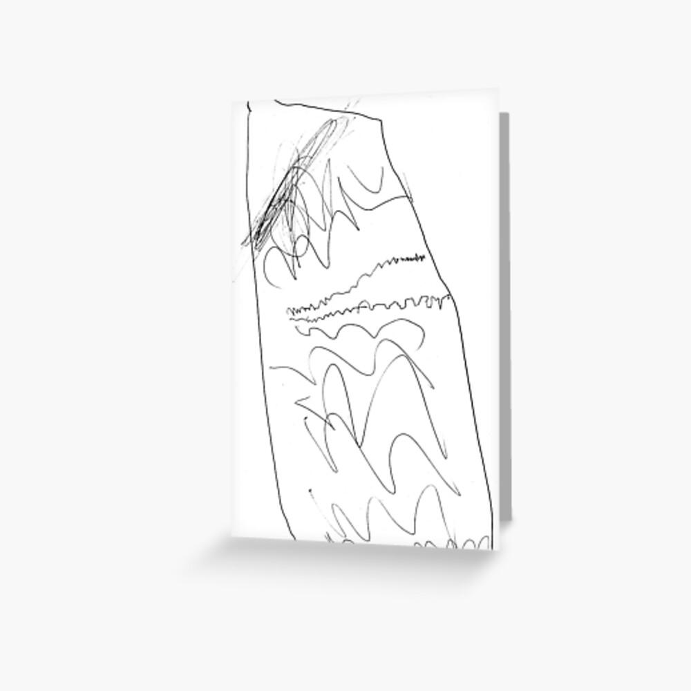 #lineart #blackandwhite #monochrome #figuredrawing #chalkout #illustration #vector #art #design #outline #sketch #scribble #vertical #whitecolor #drawingartproduct #livingorganism #inarow Greeting Card