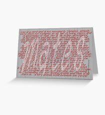 Love Is A Word (three) © Vicki Ferrari Cards Greeting Card