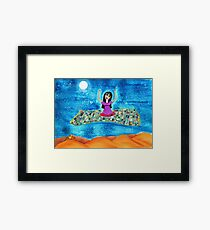 Missy's Magical Flying carpet Framed Print
