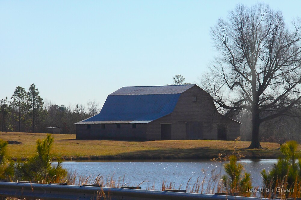 Barn On The Farm North Carolina by Jonathan  Green