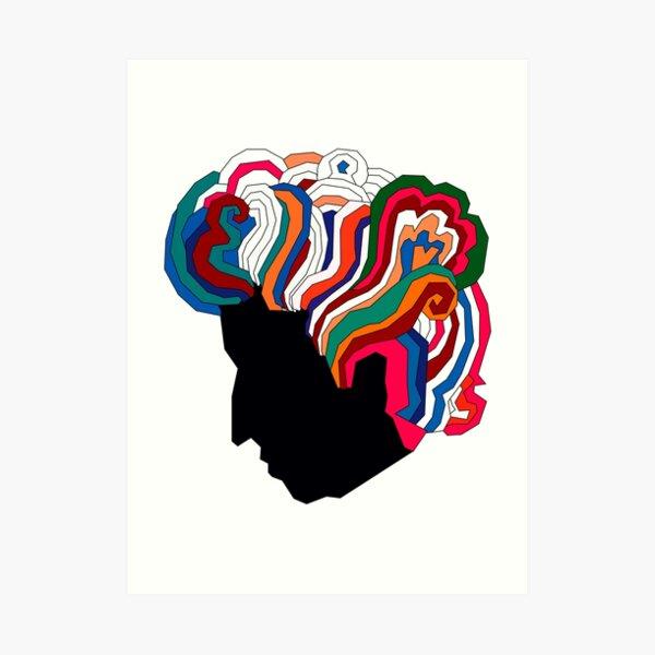 Bob Dylan Rainbow Art Print