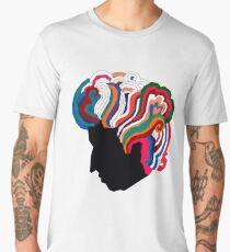Camiseta premium para hombre Bob Dylan Rainbow