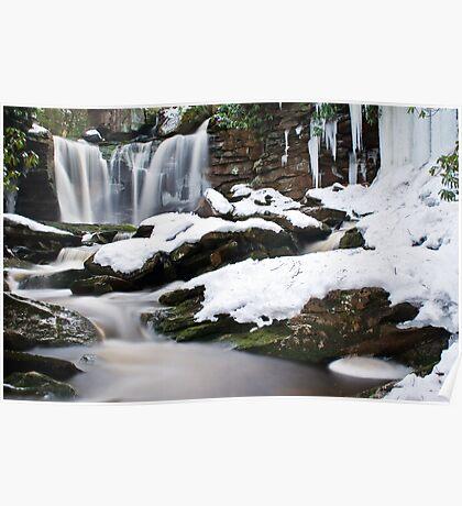 Falls of Elakala in Winter Poster