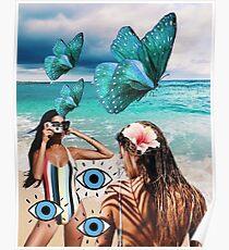 Beachy Blue Insta / VSCO / Tumblr-Collage Poster