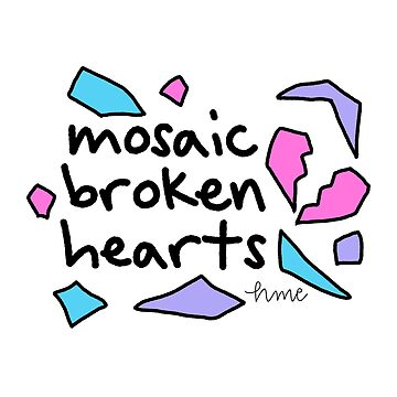 mosaic broken hearts by haileyellis17