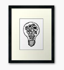 flower lightbulb Framed Print
