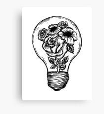 Blume Glühbirne Leinwanddruck