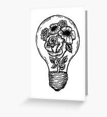 flower lightbulb Greeting Card
