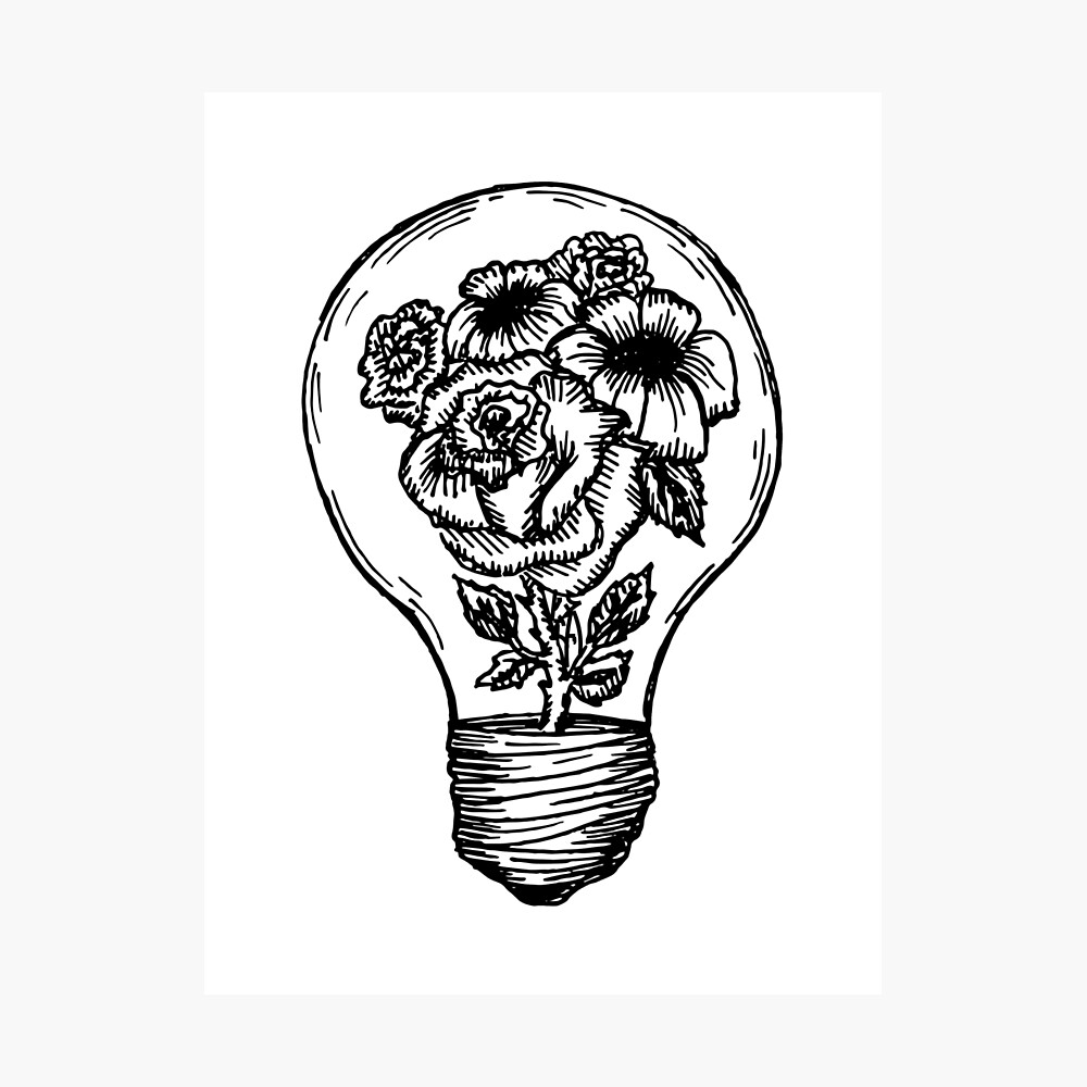 bombilla de la flor Lámina fotográfica