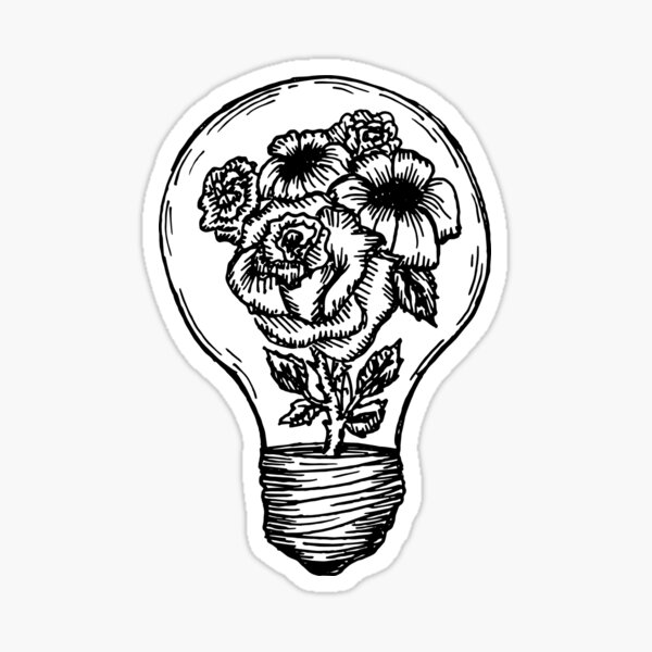 flower lightbulb Sticker