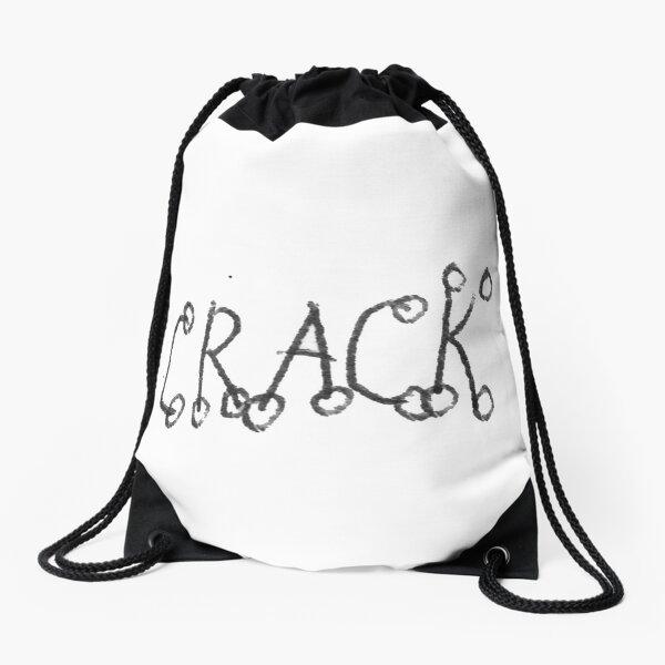 #Drawing #VisualArt #crack #alphabet symbol text letter sign Drawstring Bag