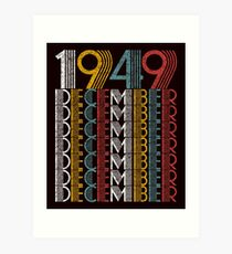 Vintage December 1949 Birthday Gifts Art Print