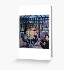 The Wandering Violinist Greeting Card