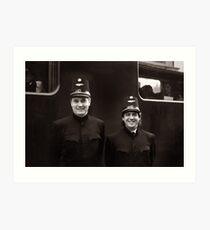 Train Conductors - Austria Art Print