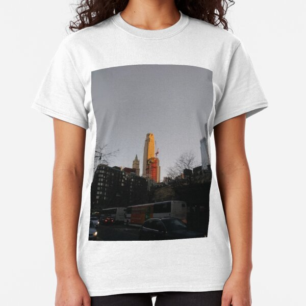 #NewYorkCity #NYC #NewYork #NY #Manhattan #city #architecture #street #travel #road #skyscraper #tower #outdoors #cityscape #sunset #sky #dusk #traffic #vertical #builtstructure #nopeople Classic T-Shirt