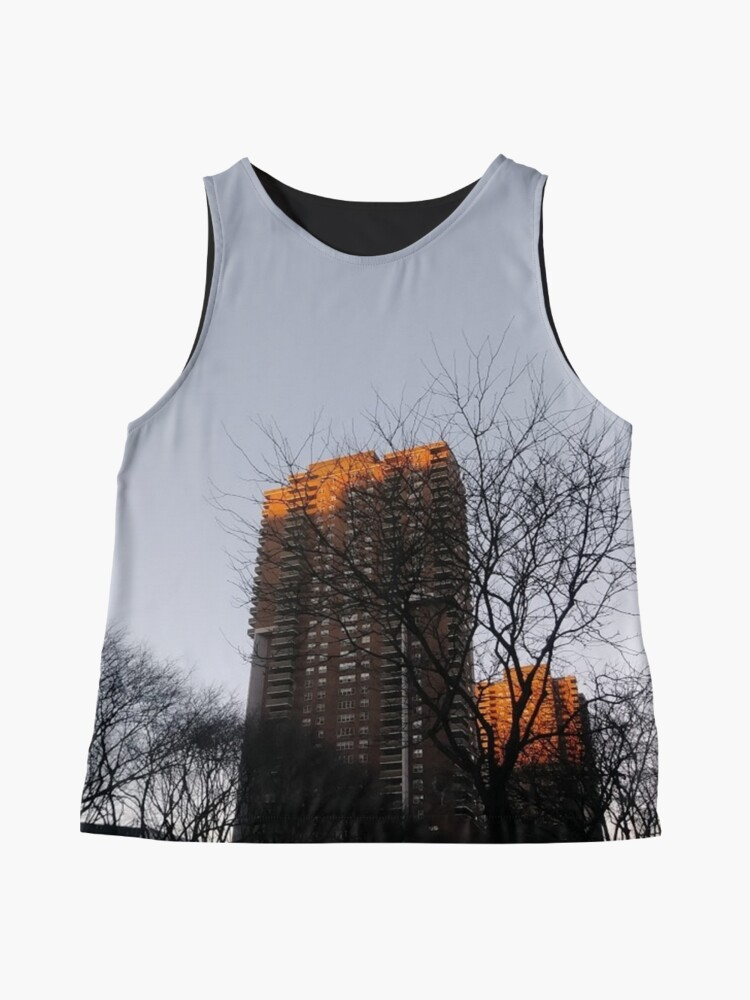 Alternate view of #NewYorkCity #NYC #NewYork #NY #Manhattan #skyscraper #tower #tree #architecture #outdoors #city #sky #environment #vertical #colorimage #nopeople #builtstructure #day #lightnaturalphenomenon #modern Sleeveless Top