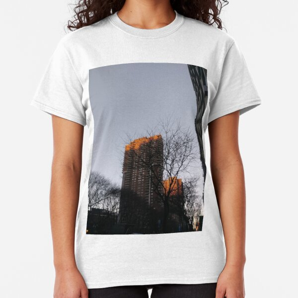#NewYorkCity #NYC #NewYork #NY #Manhattan #skyscraper #tower #tree #architecture #outdoors #city #sky #environment #vertical #colorimage #nopeople #builtstructure #day #lightnaturalphenomenon #modern Classic T-Shirt
