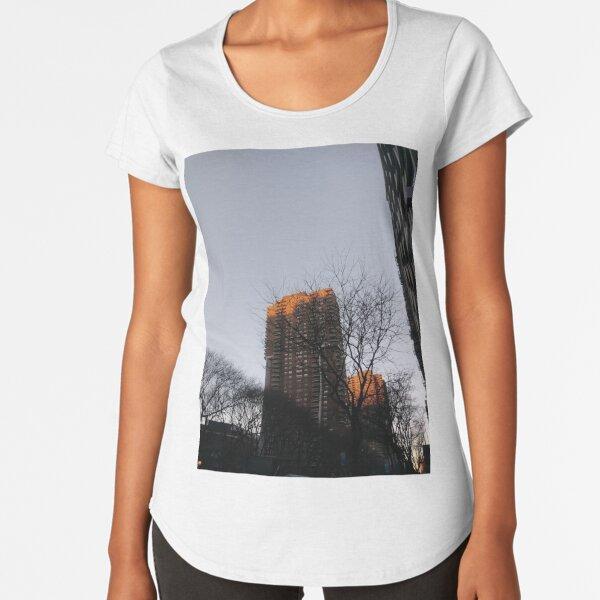 #NewYorkCity #NYC #NewYork #NY #Manhattan #skyscraper #tower #tree #architecture #outdoors #city #sky #environment #vertical #colorimage #nopeople #builtstructure #day #lightnaturalphenomenon #modern Premium Scoop T-Shirt
