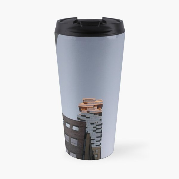#NewYorkCity #NYC #NewYork #NY #Manhattan #business #city #architecture #sky #office #skyscraper #outdoors #technology #tower #modern #finance #cityscape #window #vertical #colorimage #nopeople Travel Mug