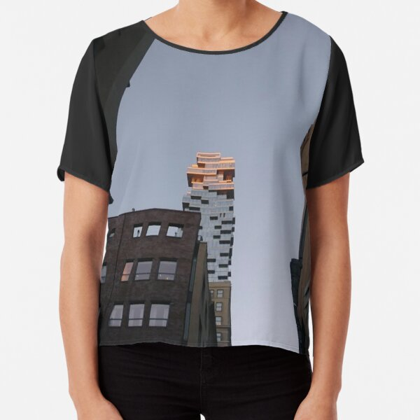 #NewYorkCity #NYC #NewYork #NY #Manhattan #business #city #architecture #sky #office #skyscraper #outdoors #technology #tower #modern #finance #cityscape #window #vertical #colorimage #nopeople Chiffon Top