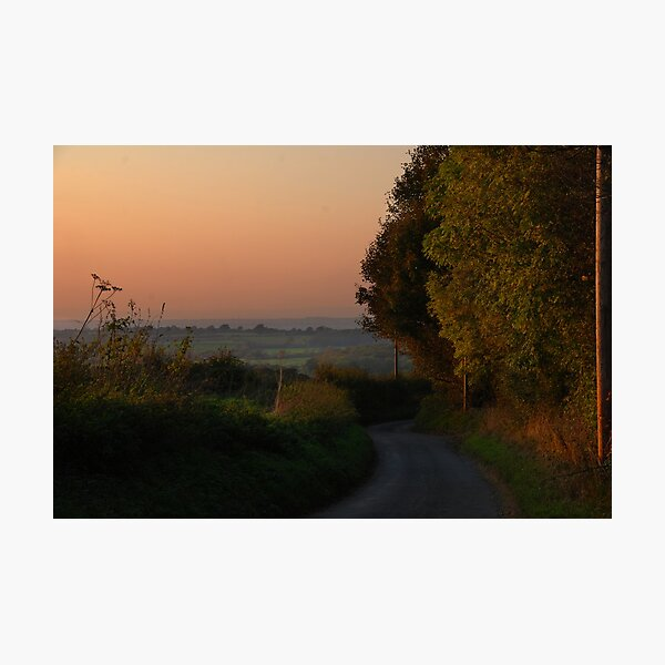 Heading for home along the narow lanes Photographic Print
