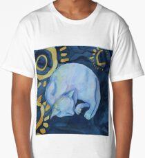 Cat dreaming of fish Long T-Shirt
