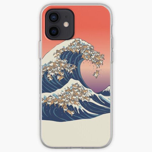 La grande vague de Shiba Inu Coque souple iPhone