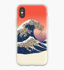 Vinilo o funda para iPhone La gran ola de Shiba Inu