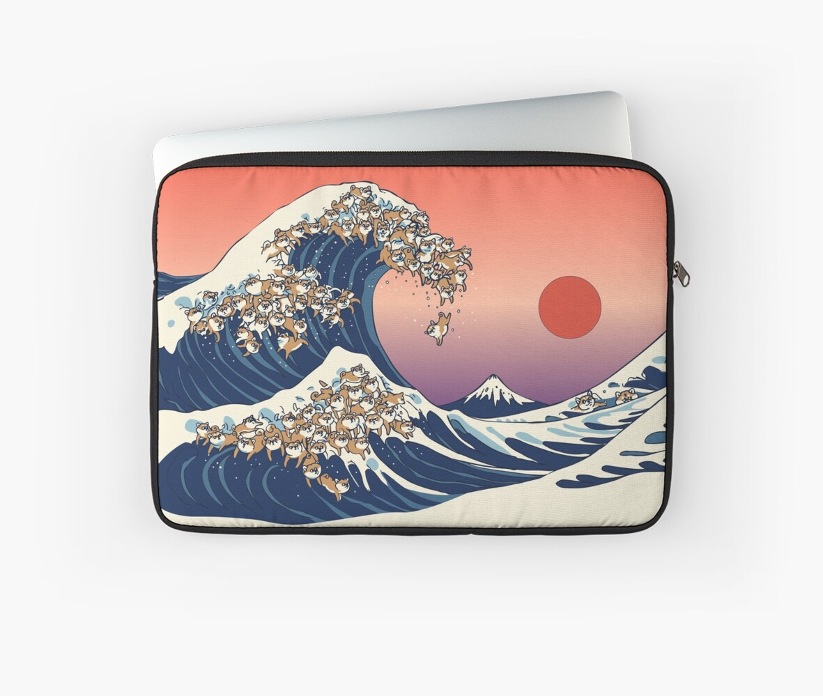 The Great Wave of Shiba Inu by Huebucket