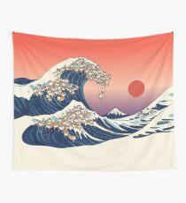 Die große Welle von Shiba Inu Wandbehang