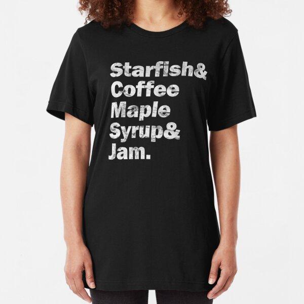 PRINCE Starfish & Coffee (White) Slim Fit T-Shirt
