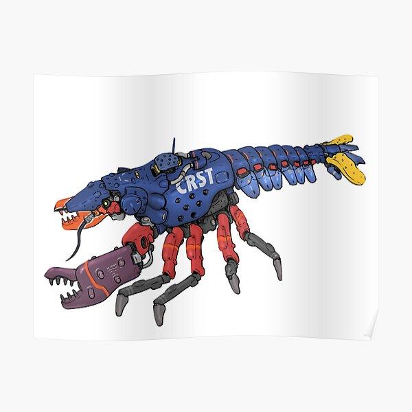 Lobster Mech Robot Crustacean Poster