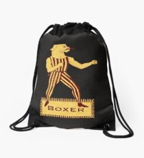 Boxer Dog Bonzo Bones Drawstring Bag