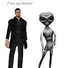 picture of characters from my story first contact the emperor of the solar system Blake and an alien he meets in a park by Rachel Lawson