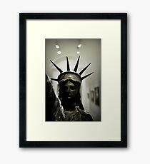 Sad Statue Framed Print