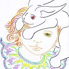 Rabbit and Child by Wendy McNally