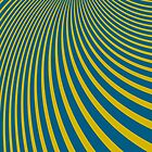 Pattern blue and yellow by DisorderShop