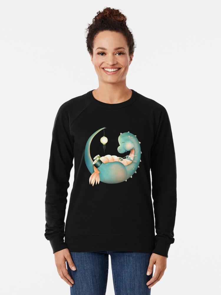 Alternative Ansicht von Sushi Dinosaurier Leichtes Sweatshirt