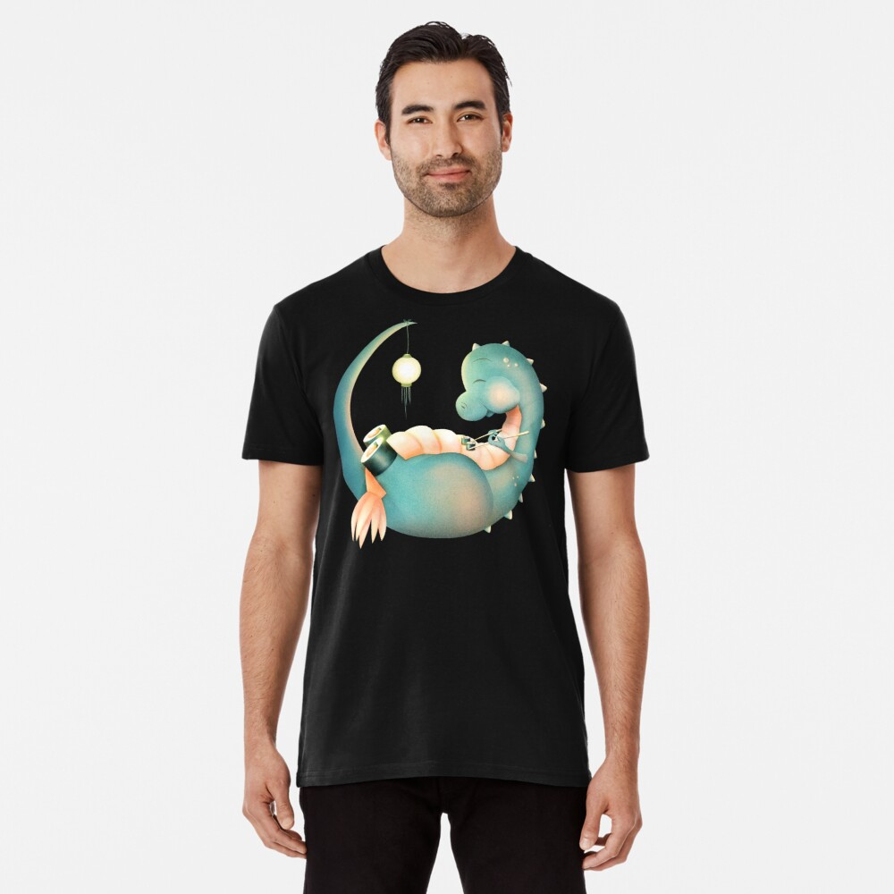 Sushi Dinosaurier Premium T-Shirt