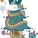 «Postal de Navidad de Unicornio» de CatalanART