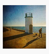 Jetty Shadows Photographic Print