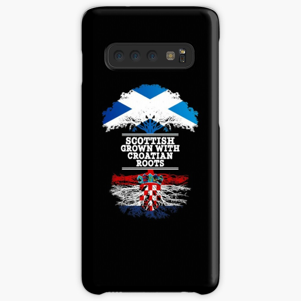 Scottish Grown With Croatian Roots - Gift For Croatian With Roots From Croatia Hülle & Klebefolie für Samsung Galaxy