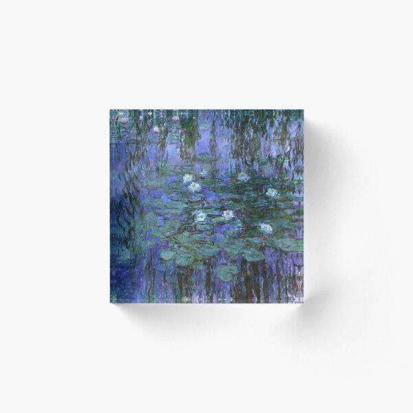 Blue Water Lilies, Claude Monet Acrylic Block