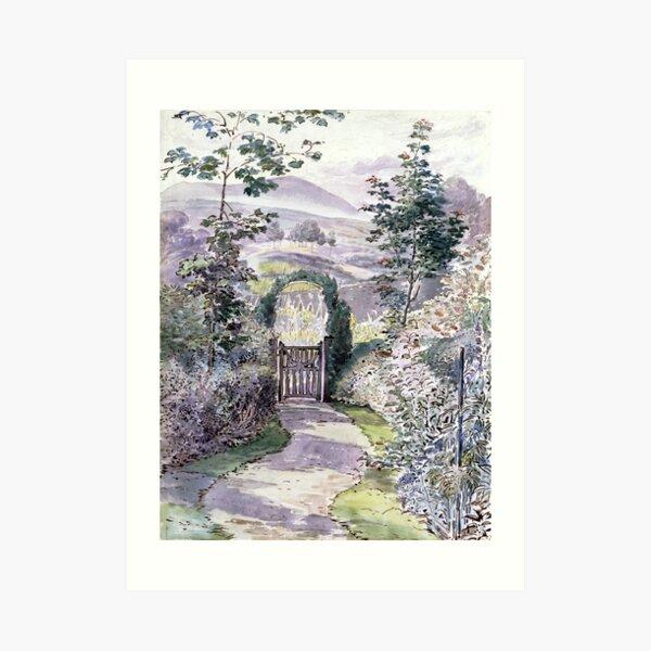 At Evening's Close, the Garden - Beatrix Potter Art Print