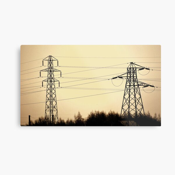 Different Towers, Different Power Metal Print