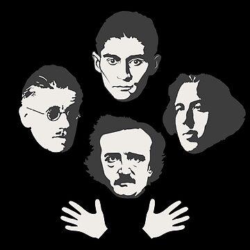 Librarian Rhapsody: Poe, Joyce, Wilde, Kafka by SQWEAR