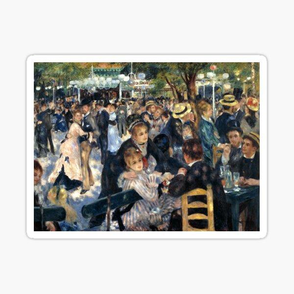 Ball of the Galette Mill, Auguste Renoir Sticker
