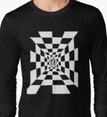 Chessboard corridor, white Long Sleeve T-Shirt