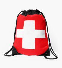 Flag of Switzerland Drawstring Bag